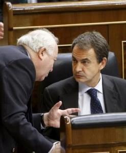 Zapatero y Moratinos