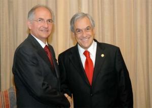 Antonio Ledezma y Sebastián Piñera